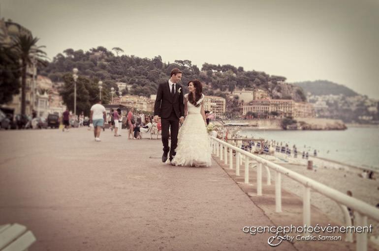 Mariage Nice sur la côte d'azur. Mariage d'A et J